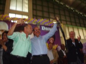 Rubén Darío Cruz junto al presidente Danilo Medina.