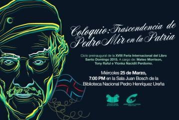 Realizarán coloquio sobre Pedro Mir en la Feria del Libro