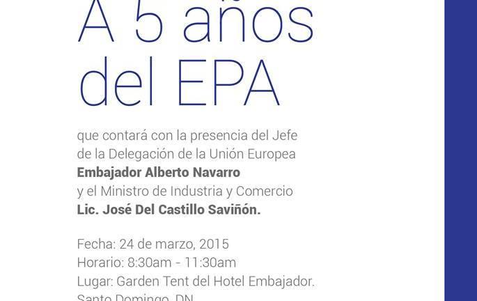 """Eurocámara RD celebrará Primer Desayuno  """"A Cinco Años del EPA"""""""