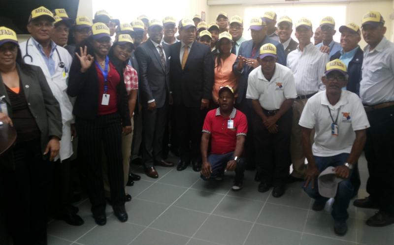 Reservistas de la Policía apoyan la reelección del presidente Medina