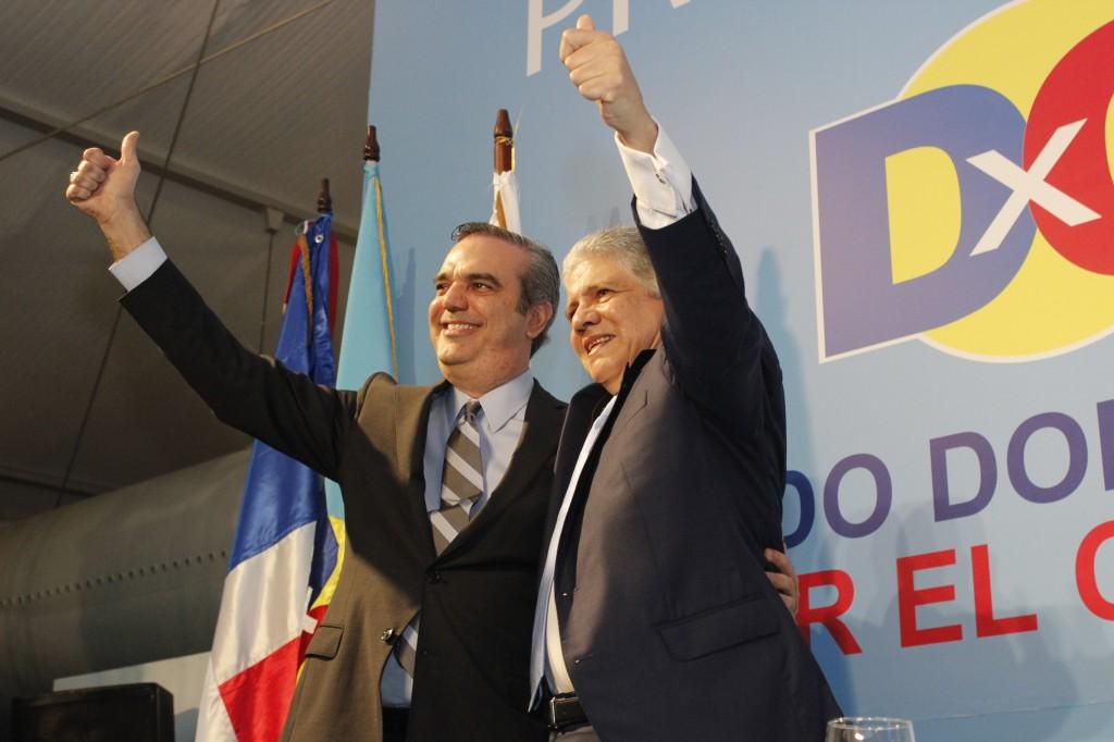 Abinader y Eduardo Estrella formalizan acuerdo para formar alianza opositora