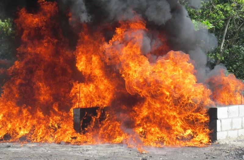 PGR incinera 268 kilogramos de drogas