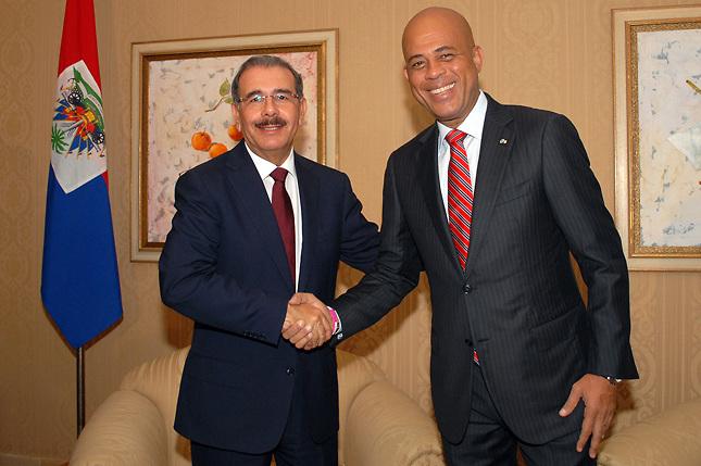 Danilo y Martelly se reunirán hoy en Barahona