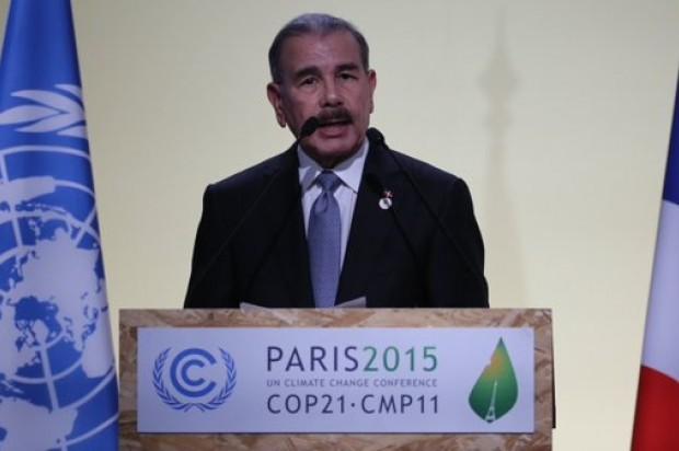 El país ha reducido la emisión de gases, según afirmó Danilo en París