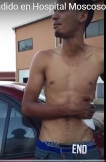 VIDEO. Hombre herido a puñaladas espera lo atiendan en el Moscoso Puello