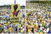 Miles de brasileños exigen la destitución  de  Dilma