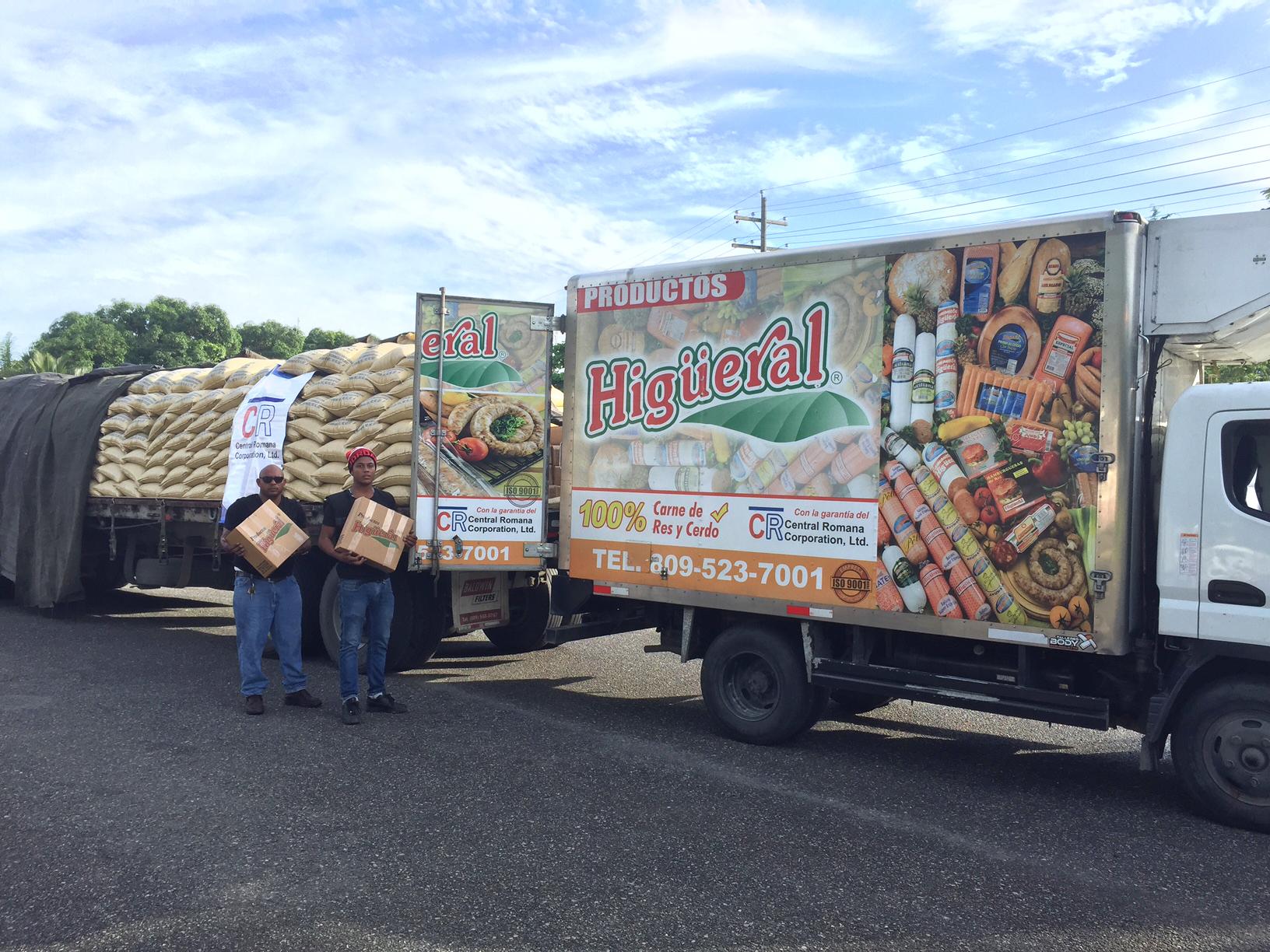 Central Romana dona  azúcar y  embutidos  a damnificados de Puerto Plata