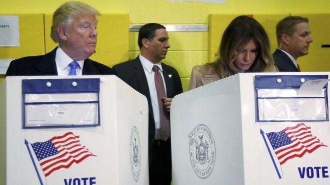 ¿Qué observa Trump en el voto de su esposa?