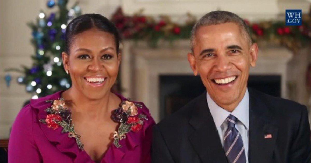 Los Obama recuerdan el valor de la acogida en su último mensaje de Navidad