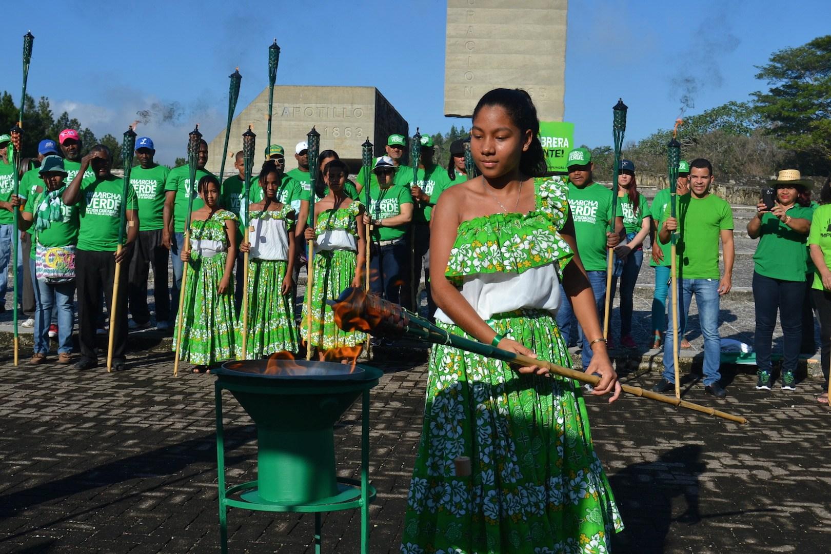 """Encienden en Dajabón la """"Llama Verde"""" del Fin de la Impunidad"""