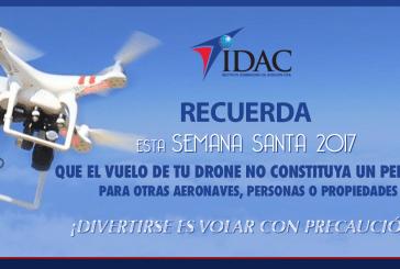 El IDAC emplaza operadores de drones a hacer un uso correcto de esos aparatos