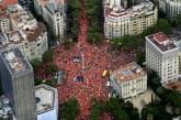 Separatistas piden una Cataluña libre