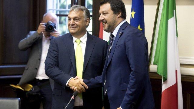 Viktor Orbán y Matteo Salvini.
