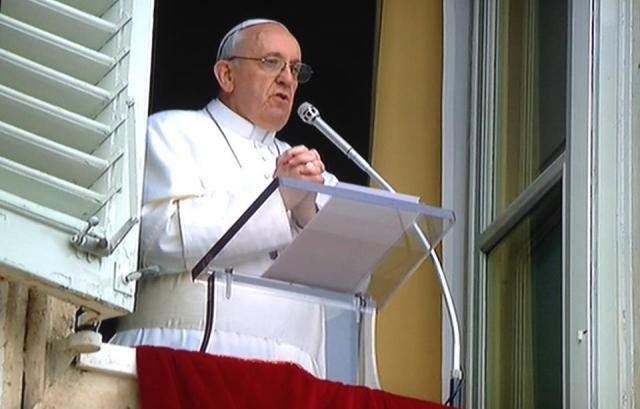 El papa se refirió a la tragedia.