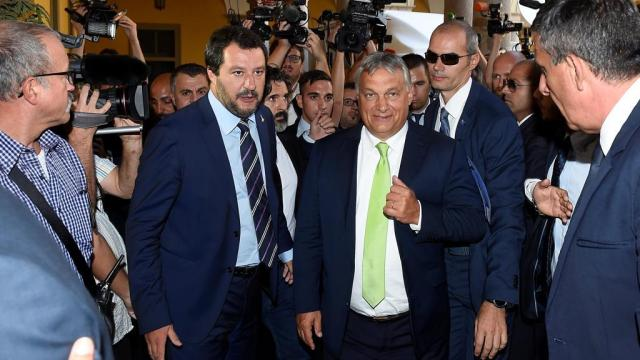 Matteo Salvini y Viktor Orbán.
