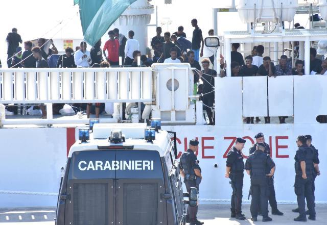 Barco Diciotti.