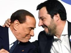 Silvio Berlusconi y Matteo Salvini.