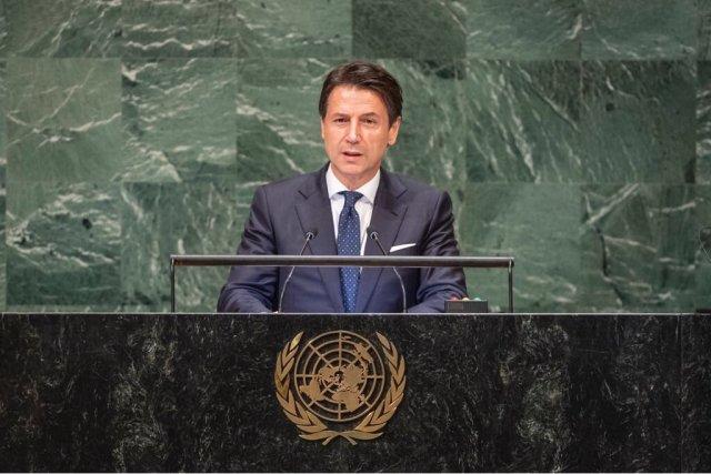 Giuseppe Conte en la ONU. (@GiuseppeConteIT)