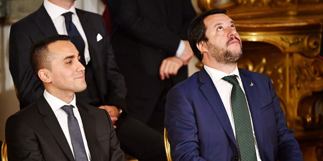 Lugi di Maio y Matteo Salvini.