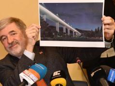 El Alcalde Bucci, con el diseño de Renzo Piano (Foto: La Vanguardia)