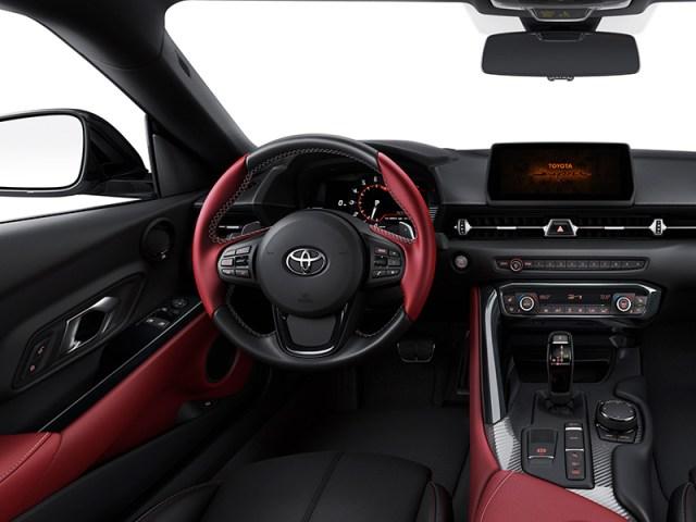 Interior del Toyota Supra Launch Edition (Foto: prensa Toyota).