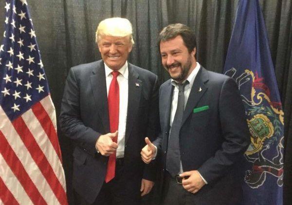 Donald Trump y Matteo Salvini.