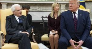 Sergio Mattarella y Donald Trump.