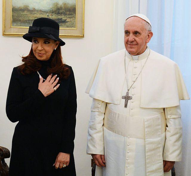 Cristina Fernández de Kirchner y Francisco.