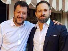 Matteo Salvini y Santiago Abascal.