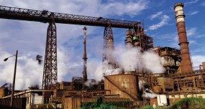 Planta siderúrgica.