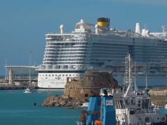 Crucero en Civitavecchia.