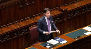 Giuseppe Conte en la Cámara de Diputados