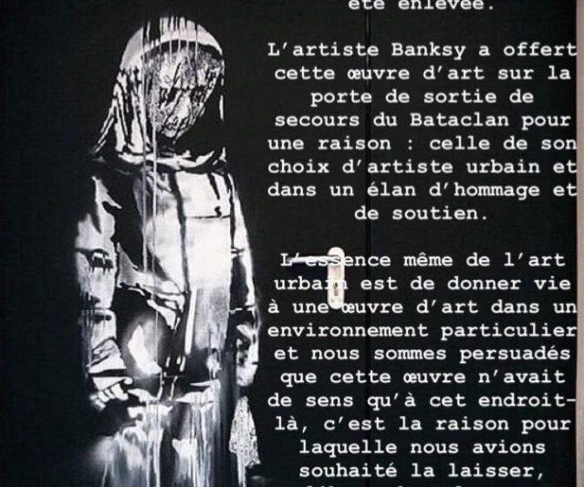 Obra de Banksy.