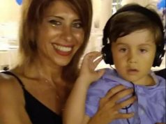 La DJ Viviana Parisi y su hijo
