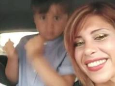 Viviana Parisi y su hijo de 4 años.