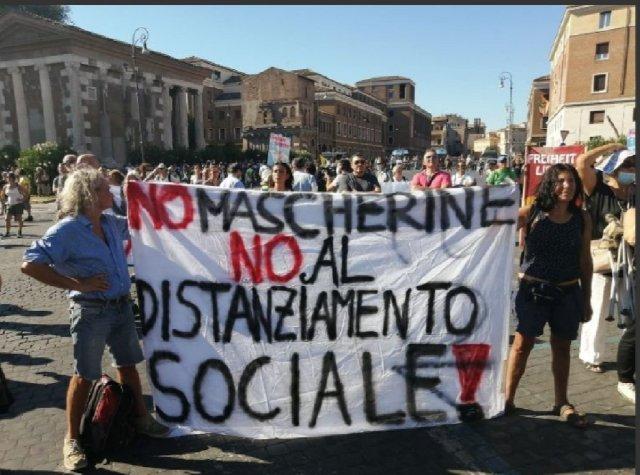 Protesta en Roma.