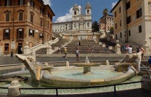 Piazza Spagna, en Roma, casi vacía en Septiembre 2020 (Foto: Turismo Roma)