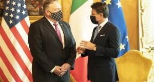 Giuseppe Conte y Mike Pompeo (Foto: Governo)