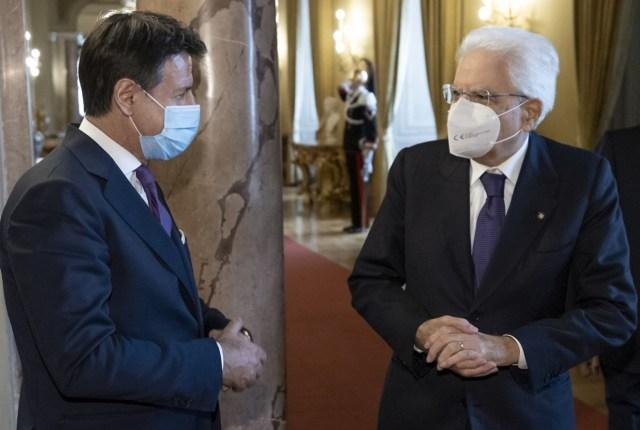 El premier Giuseppe Conte y el presidente de la República, Sergio Mattarella (Foto: Quirinale - Archivo)