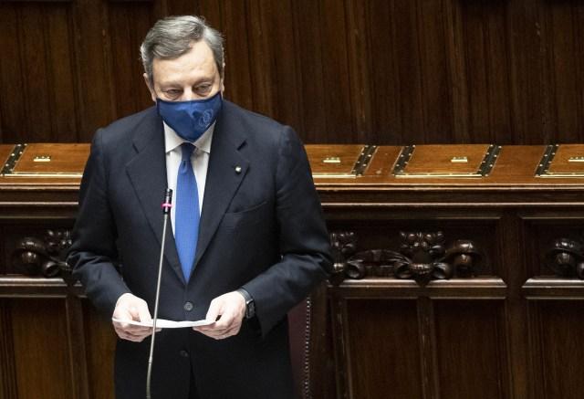 Mario Draghi en la Cámara de diputados (Foto: Governo)