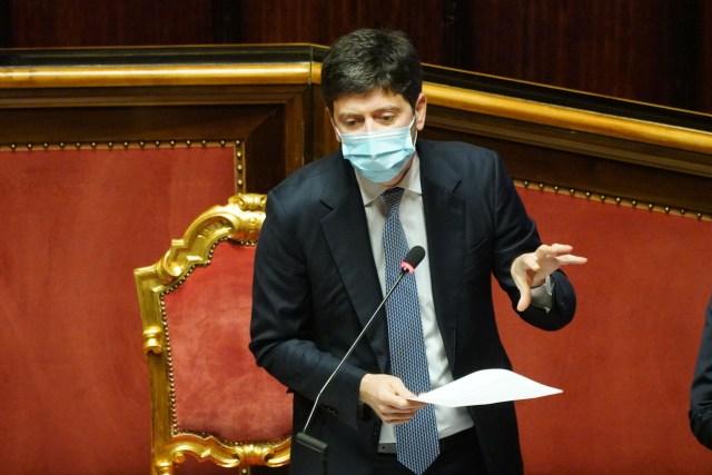 El ministro de Sanidad, Roberto Speranza, en el Senado (Foto: Twitter Senato)