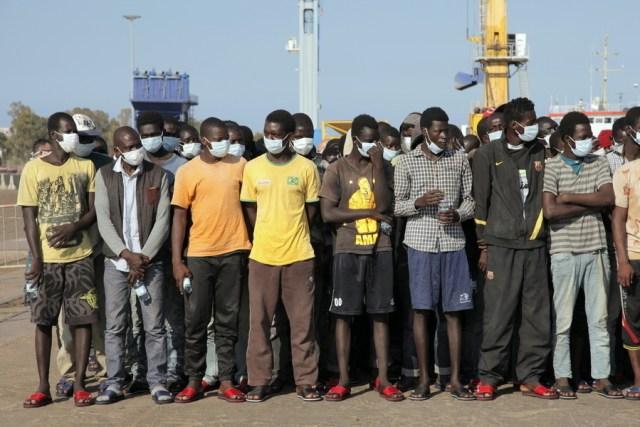 Migrantes en Lampedusa (Foto: Organización Internacional para las Migraciones - Archivo)