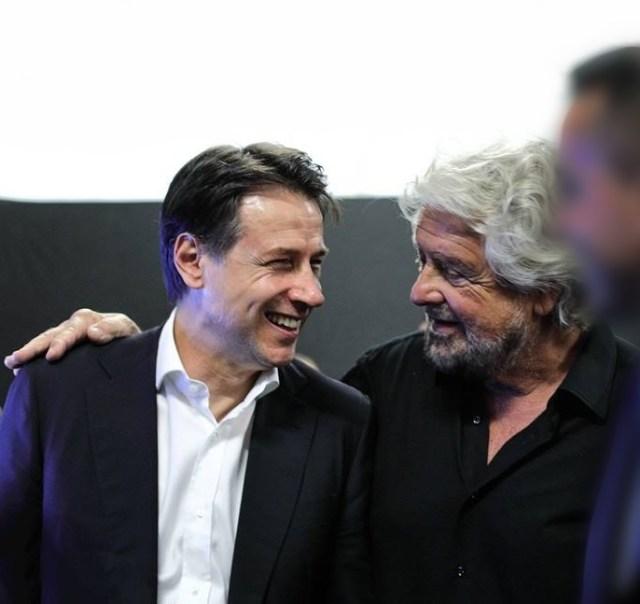 Giuseppe Conte y Beppe Grillo (Foto: Twitter Beppe Grillo - Archivo)