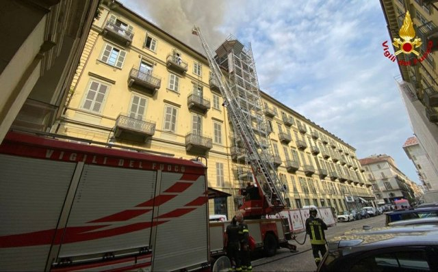 Incendio en Turín.