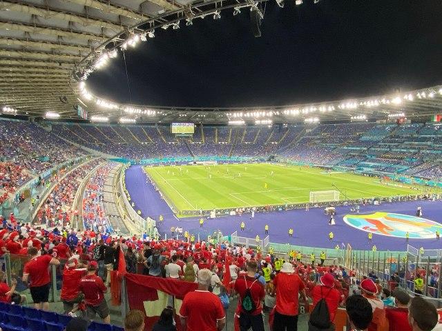 El Estadio Olímpico de Roma con aforo limitado durante la Eurocopa 2020 (Foto: Vincenzo Togni - CC BY-SA 4.0 - Archivo)