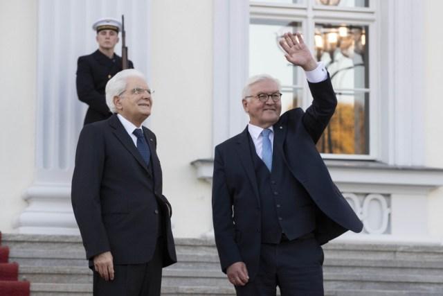 Sergio Mattarella y Frank-Walter Steinmeier.