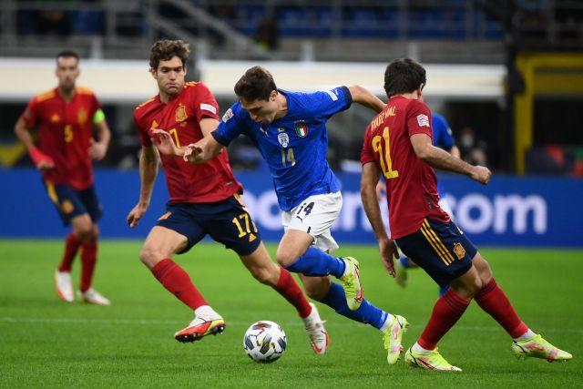 Italia perdió ante España por la Liga de las Naciones (Foto: @Azzurri)