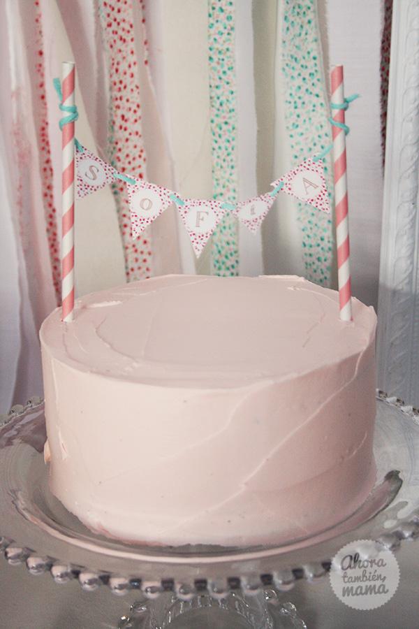 fiesta de cumpleaños del tiovivo tarta niña
