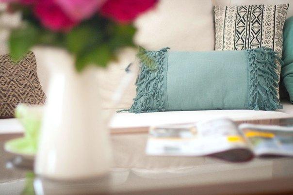 alfombra fácil de limpiar cojin azul