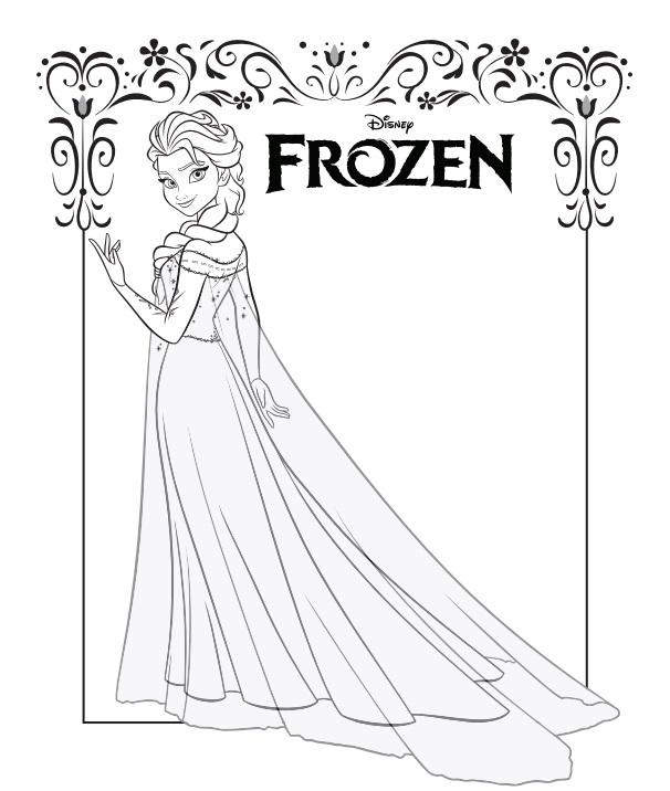 Fichas para colorear gratis de Frozen en PDF - Ahorro Domestico